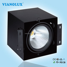 40w COB Recessed LED Grille Down Light Black/White Color 3000lm Square LED Spot Ceiling Lamp Energy Saving Light