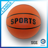 inflatable rubber women basketball ball color