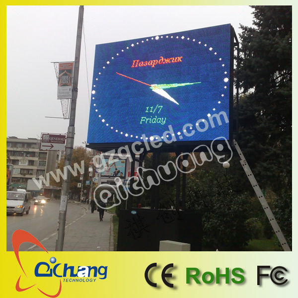P10 led display clock