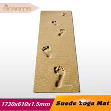 China mat manufacturer natural rubber yoga mat covered with polyurethane