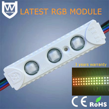 High quality SMD5050 1.5W IP65waterproof rgb led module with lens 5050