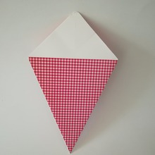 french fry paper cone with red white checkered
