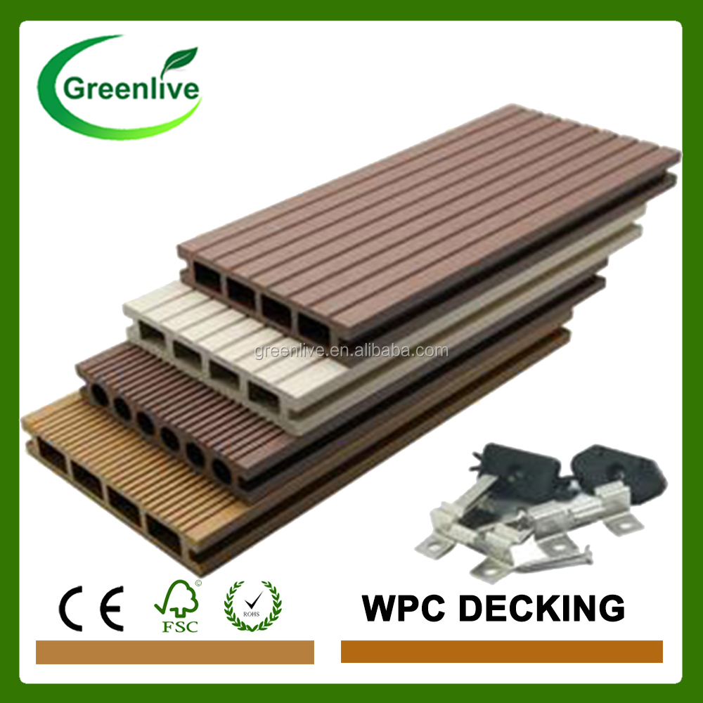Ecological wood plastic composite exterior flooring