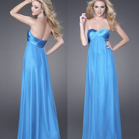 HE188 off the shoulder big boobs empire waist light blue floor length free flowing cheap sexy low back evening dresses