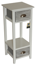 Nightingale 2 Drawer Bedside Cabinet Wardrobe Table Lamp In White Shabby Chic modern furniture design