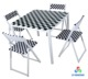 Outdoor and indoor glass dining table set space saving dining table with 4 chairs