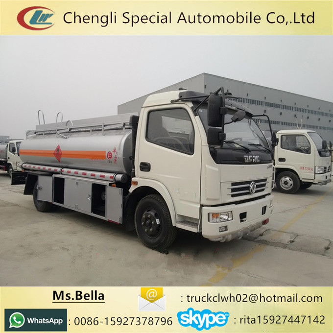 Fueling Petrol Diesel Tanker Truck 1600 Gallon Small Tanker For Sale