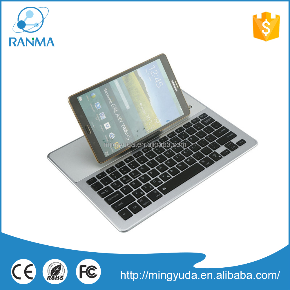 Detachable bluetooth wireless aluminum tablet keyboard case
