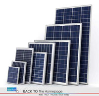 water-proof 75W18V aluminium frame poly solar panels