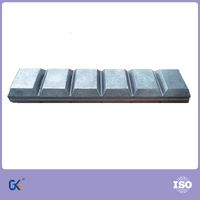 Bi-metal high chromium molybdenum white iron wear chocky bar