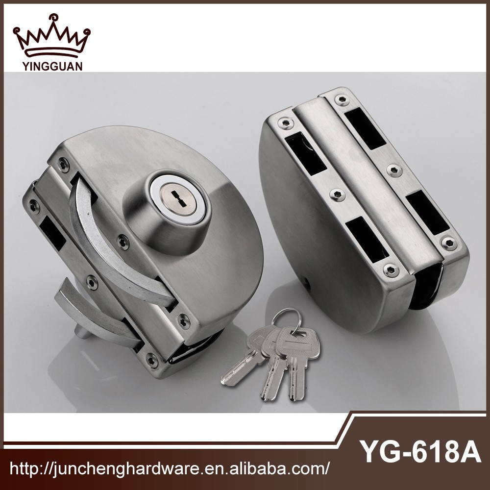 High quality 201/ 304 stainless steel Mirror glass door lock