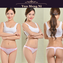 High quality dots printed cotton women thongs panty