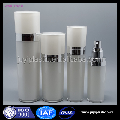 30ml 50ml 80ml 120ml White Color Cone shape Acrylic Lotion Bottle, Gold Plastic Cosmetic Bottle Packaging For Face Cream