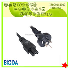 SAA AC power cord with 3pin male plug and stripped female end or socket