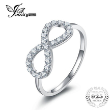 JewelryPalace 925 Sterling Silver Infinity Ring Bridal Wedding Jewelry Bow Knot Many Ring for Women High Quality