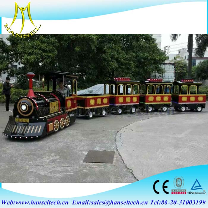 Hansel funny kids games luna park equipment small amusement park trains for sale