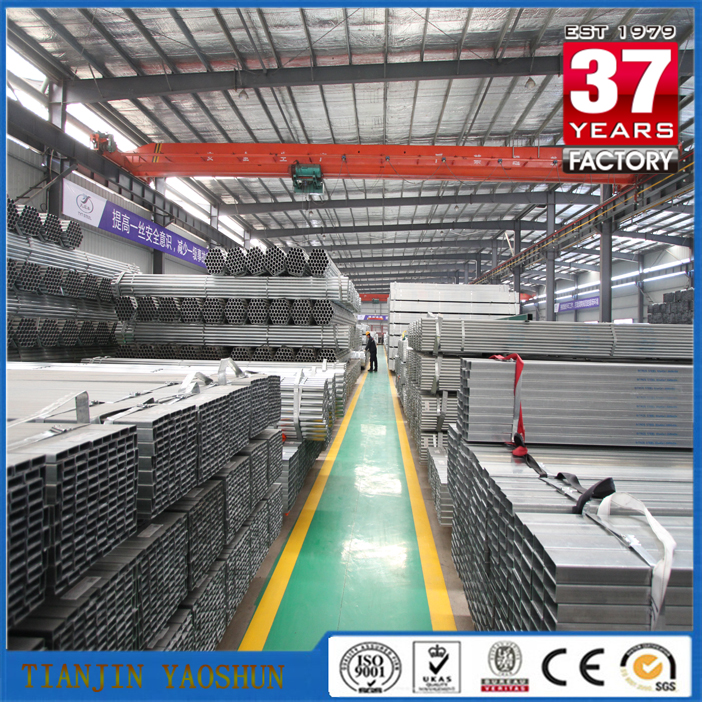 ASTM A500 Steel Pipe Building Material made in China Q195 -Q345 Pre-galvanized Square Hollow section