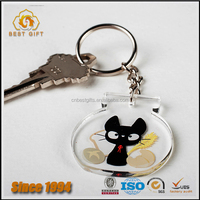 Top sell cute promotional gifts cusotmized acrylic keychain for girl