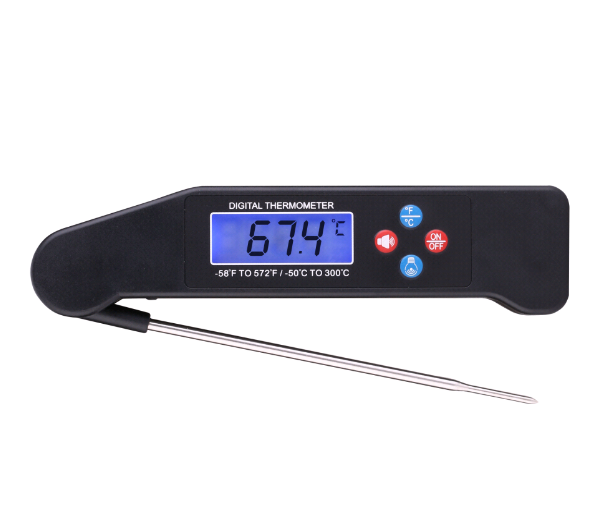 Newest 2016 digital candy thermometer probe meat thermometer with backlight function