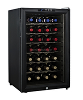 28 bottles, Electronic wine Cooler Cabinet thermoelectric glass door individual wine bottle cooler