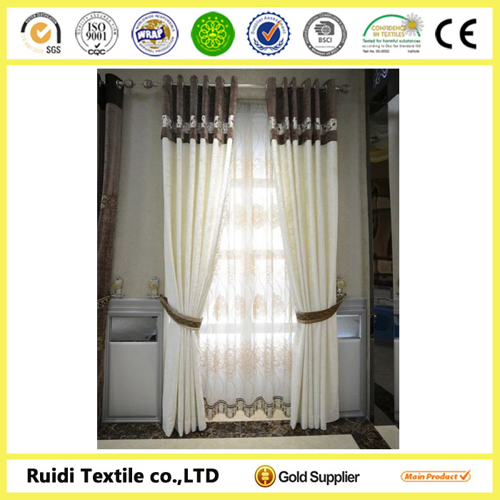 100% blackout curtain for bedroom window covering made in China