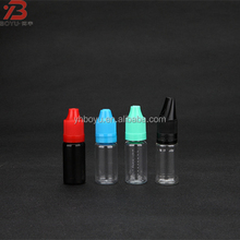 PET round transparent black empty 10 ml plastic pet bottle with childproof cap for liquid thc e cigarette