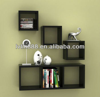 Modern right angle wall cube decorative wall wood shelves for Ikea mensole cubo