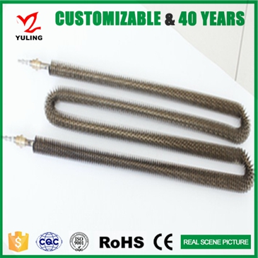 Steaming machine finned tubular heating element with CE approval