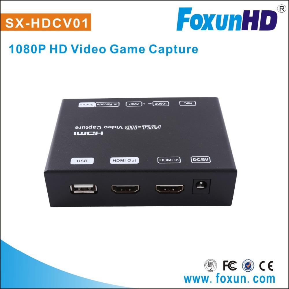 FOXUN new 1080P using H.264 compression encoding HDMI game capture