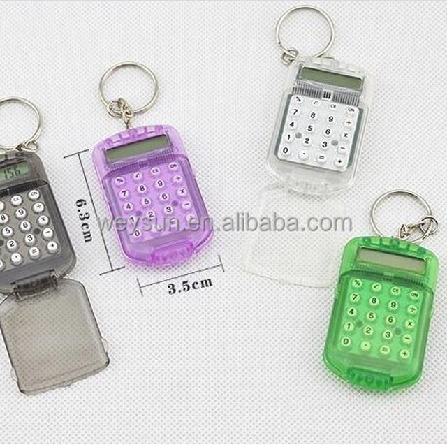 Fashion Cute Mini Pocket Calculator Keyring Key Chain minitype Calculator keychain