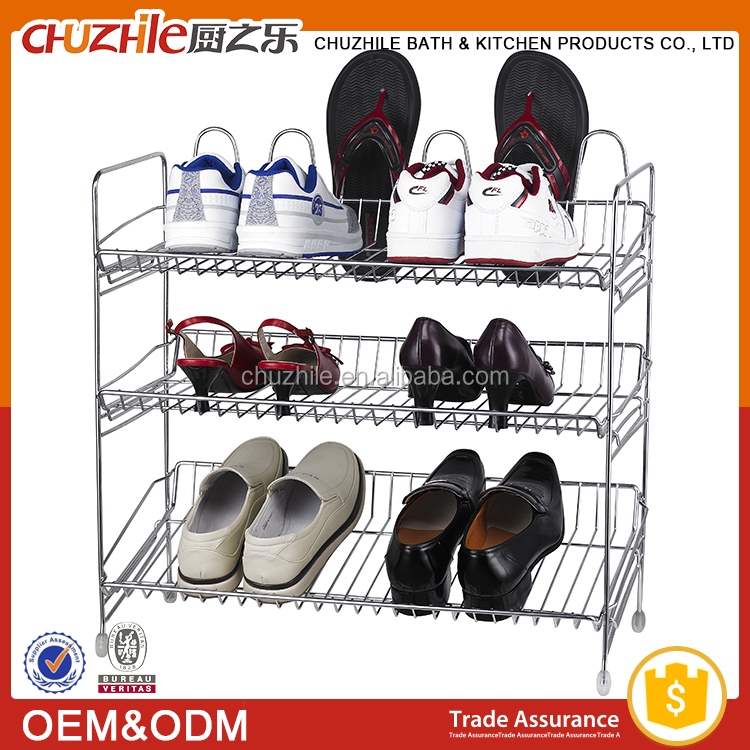 New arrival 3 Tier 20 Pair metal folding iron shoe rack