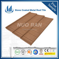 NUORAN Chinese style light grey slate sand coated metal roofing tiles