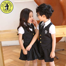 The kindergarten beautiful school uniform