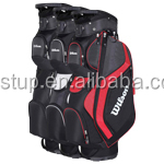 "Great pro-staff cart bag with 9"" x 11"" top fourteen dividers out of which 3-stays construction"