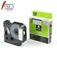 Compatible DYMO Cartridge Printer Ribbon D1 Label Tape For Label Printer Black On White 12mm*7m 45013