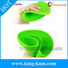 Hot custom silicone rubber flying disc dog frisbee rubber frisbees for dogs