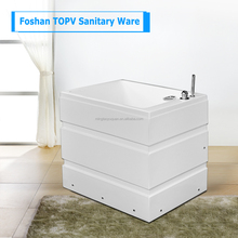 White Acrylic Double Apron Bathtub Small With Steps For One Person Spa