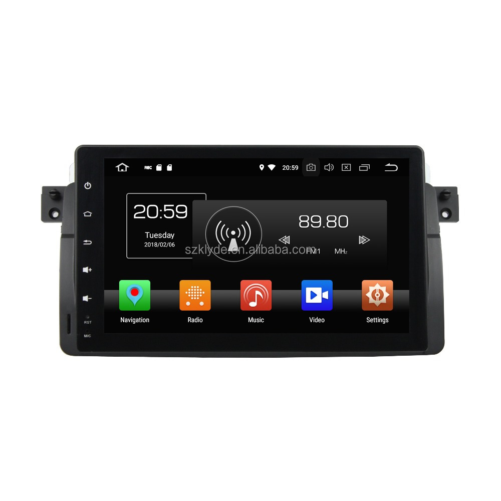 "KLYDE E46 Full Touch Radio Audio 7"" Android 8.0 Octa Core Car DVD Stereo Player Steering Wheel GPS Navigation OBD"