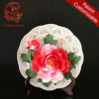 CHINES ANTIQU porcelain ceramic flowers