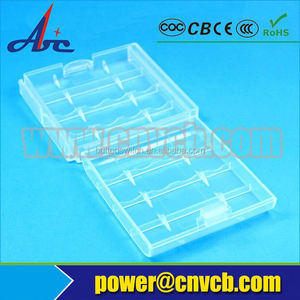 Small convenient 4 pcs plastic 26650 18650 18500 18350 AA AAA battery case boxes