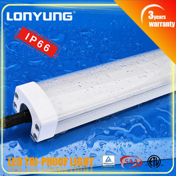hot sell products 2015 3 years warranty 4FT 50W/60w IP66 100-240volt ac New led waterproof 110v ceiling led puck light
