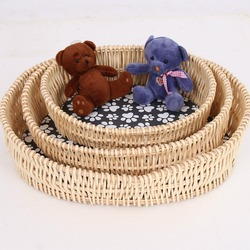 The Wicker hand made Weave Dog Beds Cat bed with Mats