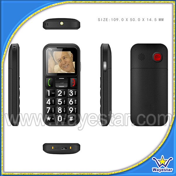 "OEM Wholesale Quad Band Cheap Senior Citizen Mobile Phone with 1.77"" Screen"