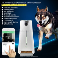 Dog pet products electronic portion pet food containers wifi pet feeder smart