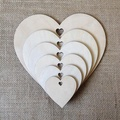 heart - Laser Cut Out Unfinished wood star Cutout Shape