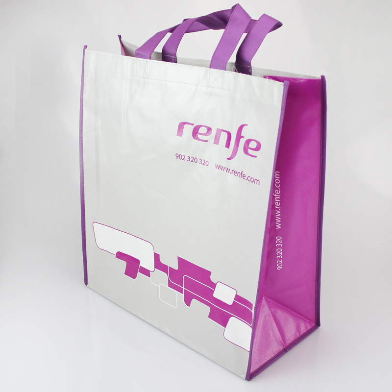 NW8001 Promotional Cheap Polypropylene Die Cut Laminated TNT Tote PP Non Woven Shopping Bag