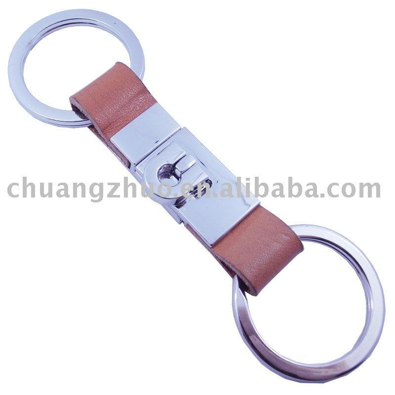 New Style Metal Real Leather Key Holder