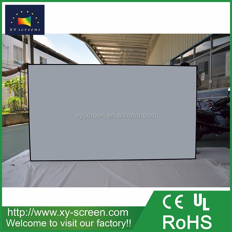 100 inch 4k 3d silver /full hd projector screen for home cinema