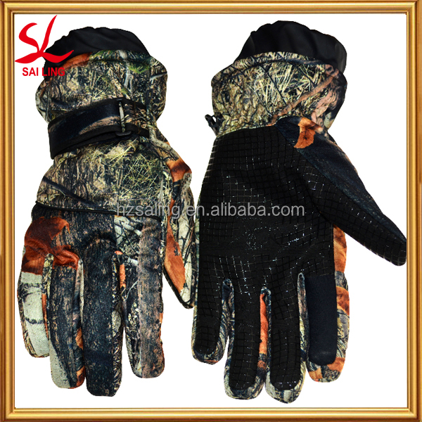 Professional Heating Camouflage Waterproof Sports Gloves Comfortable Ski Gloves