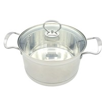 High quality cookware stainless steel soup cooking pot/sauce pot 18cm
